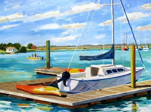 A crystal clear morning in Beaufort, NC. This painting was donated and sold at the Artspace Collectors GALA, Nov. 21, 2015